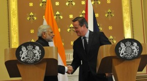 PM Narendra Modi at the Joint Press Briefing with UK PM David Cameron at Foreign and Commonwealth Office, London