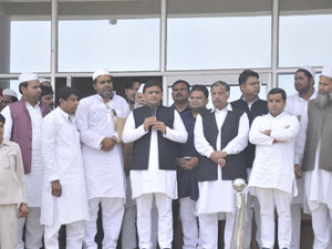 akhilesh y at mla irfan house