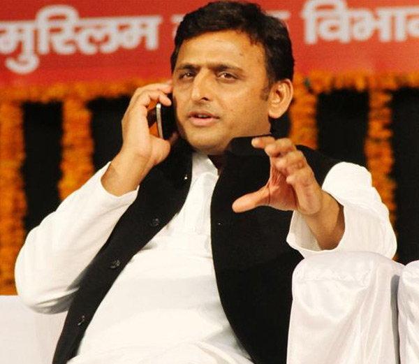 akhilesh Yadav & mobile