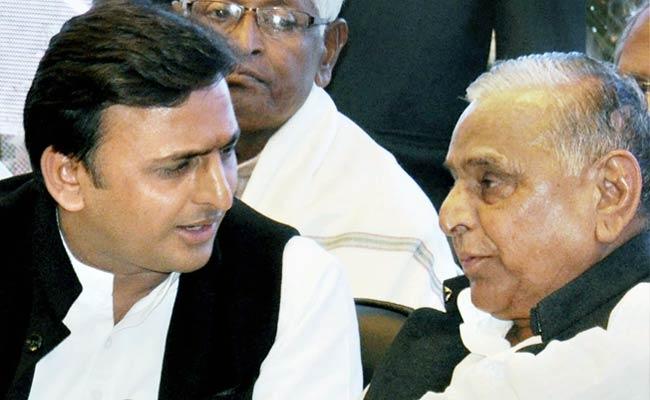 mulayam with akhilesh