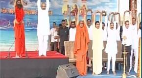 अंतर्राष्ट्रीय योग दिवस पर बाबा रामदेव ने बनाये 3 वर्ल्ड रिकॉर्ड