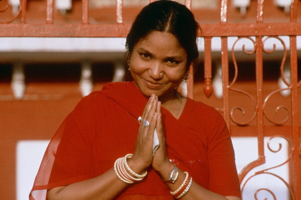 INDIA - CIRCA 1900:  Phoolan Devi in India - 38 years old, murdered in 25th July 2001 in New Delhi - legendary in Inia, victim of maltreating and rape since her young ages, she became a bandit then turned on avenger.  (Photo by Jean-Luc MANAUD/Gamma-Rapho via Getty Images)