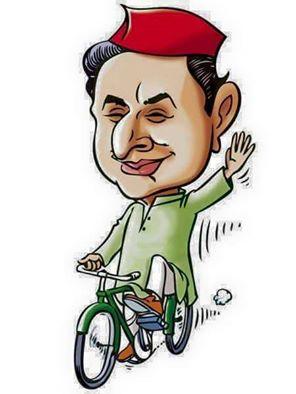 akhilesh cartoon