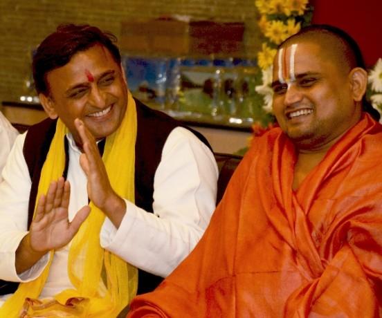 akhilesh yadav & saint