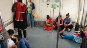 मेट्रो रेल में सफर करते वक्त महिलाओं को, चाकू ले जाने की छूट