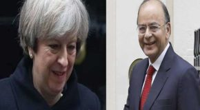 वित्त मंत्रियों की बैठक में, ब्रिटिश प्रधानमंत्री ने अचानक पहुंचकर, भारत के प्रति गर्मजोशी जतायी